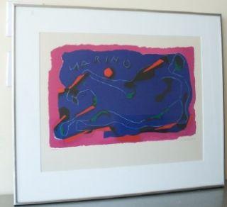 Marino Marini Hand Signed N Lithograph Cavallo Museum of Modern Art