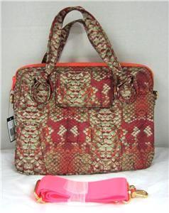 Marc by Marc Jacobs 13 Pretty Nylon Laptop Bag Case Tote Fluoro Pink