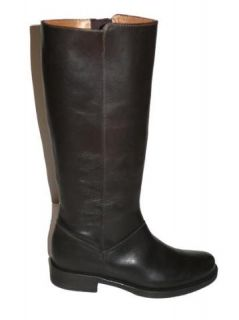 JCrew Templeton Tall Leather Flat Boots $198 Brown 8 5