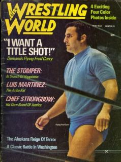 Flying Fred Curry World Wrestling Magazine Winter 1971