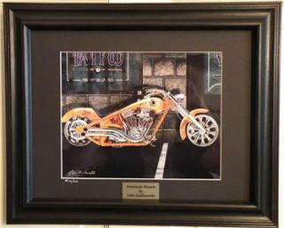 Motorcycle Art Aerosmith Perewitz Chopper Framed Print #17 wCOA by