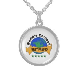 Worlds Coolest Best Friend Sterling Silver Necklaces