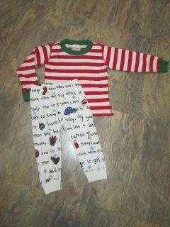 Hanna Andersson Boys Christmas Pajama Set Pants and Shirt EU Size 80
