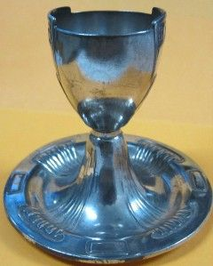 Vintage Holland Art Deco Silverplate Egg Cup