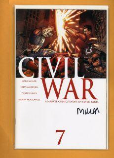 Mark Millar Civil War 7 Hand Signed Autograph Comic Book COA
