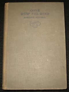Wind Book 1st Edition 2nd Printing June 1936 Margaret Mitchell