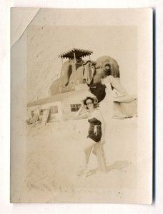 vintage SNAPSHOT, LUCY the ELEPHANT HOTEL Margate   Atlantic City NJ