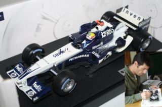 Hotwheels Mark Webber Signed 2005 BMW FW27 1 18