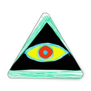 Neat Illuminati Triangle Sticker