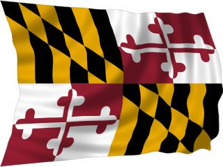 Maryland Flag Bumper Sticker Decal Fit Cars Bikes Trucks Laminated