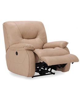 with Vinyl Sides & Back Power Recliner Chair, 41W x 41D x 40H