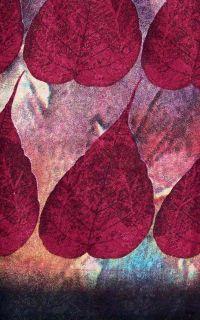 Maron Brown Printed Blended Pashmina Wool Salwar Kameez Suit Material
