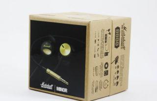 Marshall Minor Black Gold Audio in Ear Stereo Headphones New