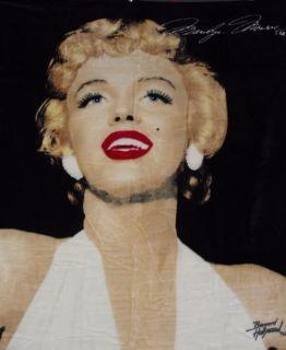 Marilyn Monroe Blue Eyes Soft Warm Blanket BIG79X95 Plush Marlyn