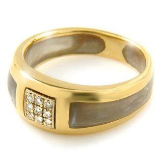 Estate Angelique de Paris Mother of Pearl Diamond Ring