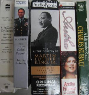 Cassette Biography Audiobooks Martin Luther King Arethra Franklin