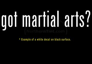 Got Martial Arts Vinyl Wall Art Car Decal Sticker