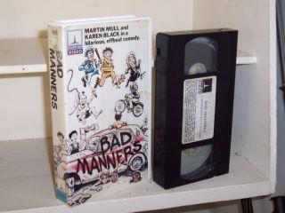 Bad Manners 1984 VHS Martin Mull Karen Black
