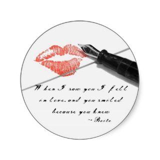 Love Letter Quote Sticker