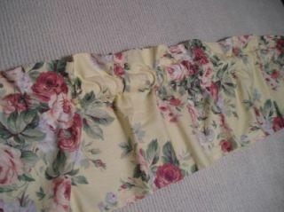 Martha Stewart Window Valance Roses Shabby Cottage Chic