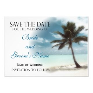Palm Tree Wedding Invitations, 1,400+ Palm Tree Wedding Announcements