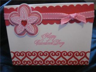 Valentines Day Card Stampin Up Red Hearts Martha Stewart EK Punch