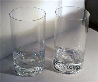 Orrefors Tee Golf Tumbler/HIghball Glasses NIB NIB (Set Of 2)