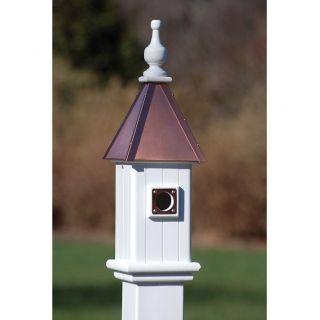 copper 6 decorative birdhouse item bh6 bc 6 blue bird house 26 h