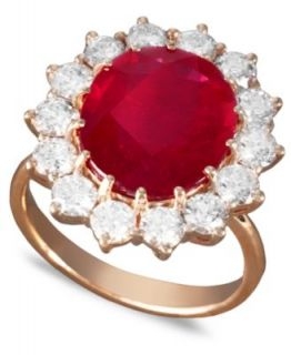 Effy Collection 14k Rose Gold Ring, Ruby (6 5/8 ct. t.w.) and Diamond