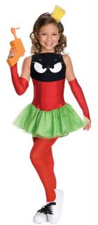 Marvin The Martian Child Costume Girls Dress Kids Looney Tunes Toons