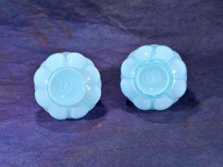 1961 RARE   FENTON JACQUELINE #9106 POWDER BLUE OVERLAY SALT & PEPPER