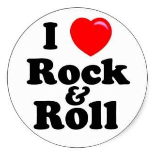 Heart (love) Rock and Roll Sticker