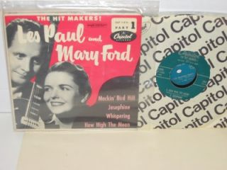 Les Paul Mary Ford The Hit Makers Part 1 EP EAP 1 416