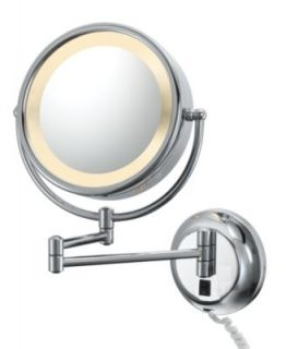 Kimball & Young, Double Sided Lighted Magnified Wall Makeup Mirror