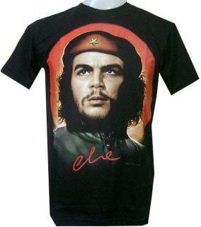 Vintage Che Guevara Cuban Revolution for Gift Biker Black Mens T Shirt