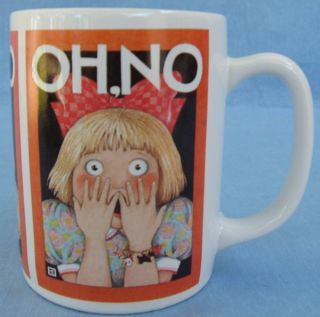 Mary Engelbreit Coffee Mug Cup Oh No Gasping Girl Funny