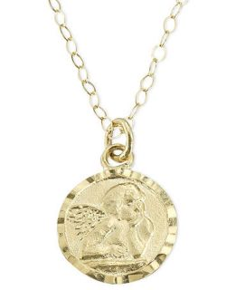 Childrens 14k Gold Pendant, Guardian Angel   Kids Jewelry & Watches
