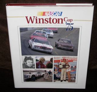 NASCAR Winston Cup Grand National Series Yearbook 1975 HC w DJ