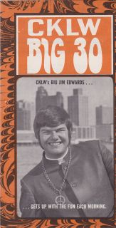 Big Jim Edwards Rock Radio Show CKLW Detroit from 12 1 1969 Great 60s
