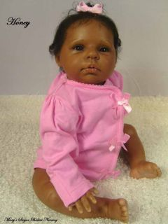 Adorable AA Ethnic Reborn Baby Girl Donna RuBerts Honey
