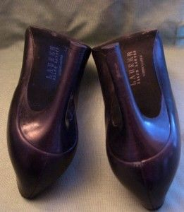 Lauren Ralph Lauren Black Marsalis Leather Heels Size 10B