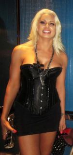 WWE DIVA MARYSE OUELLET DIRECT WIN MY CORSET SKIRT WORN AT LAS VEGAS