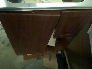 Masco Bath 103030 All In One Stainless Steel Utility Sink w/ Cherry