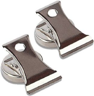 Master Magnetics 2 Pack Chrome Plated 2 Magnetic Spring Loaded Clips