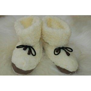 FEET ~ Womens 100% Pure Sheep Wool MERINO Sheepskin Slipper Boots