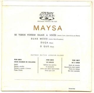 Maysa Matarazzo Bossa Nova SE Todos Fossem EP Portugal