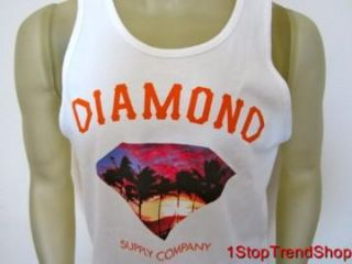Diamond Supply Co White Tank Top Mens Shirt Skate Size Small $30