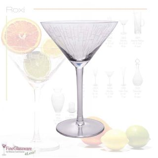Crystal Martini Glasses Imported from Romania Part of The Roxi
