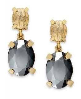 Alfani Earrings, Gold Tone Glass Stone Drop Earrings
