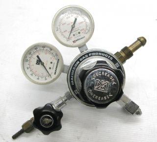 Matheson 3104 320 Gas Pressure Regulator 3000 PSI Dual Gauge Set